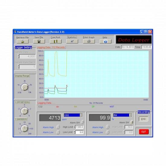 Air parameters meter with relay AZ 7722