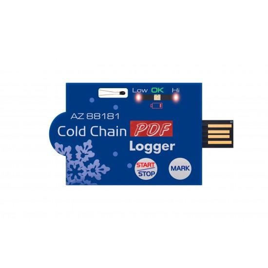 Single-use temperature logger