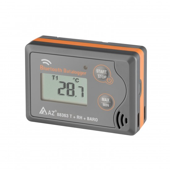 Temperature, humidity & barometric pressure logger with bluetooth