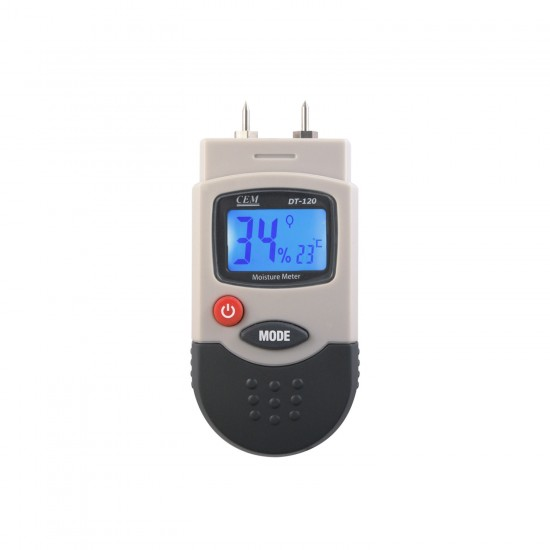 Temperature and material humidity meter
