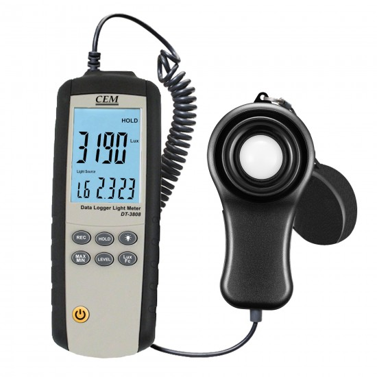 Luxmeter with computer cooperation function DT-3808