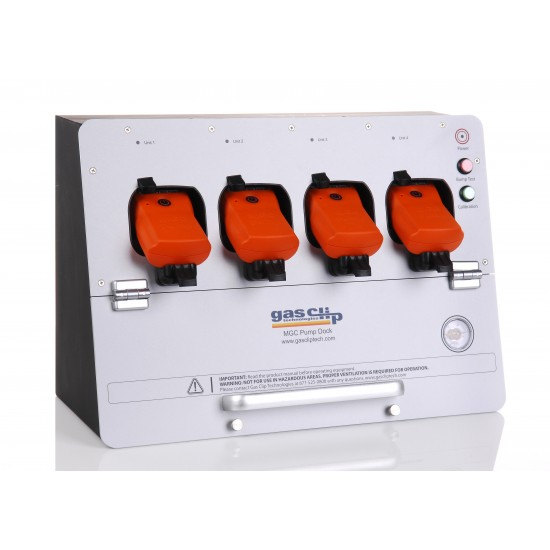 Multi Gas Clip docking and calibration station