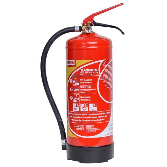 Powder fire extinguisher 6 kg