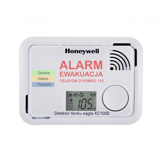 Carbon monoxide alarm with display Honeywell XC100D with app