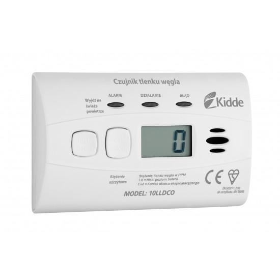 Carbon monoxide alarm with display Kidde 10LLDCO